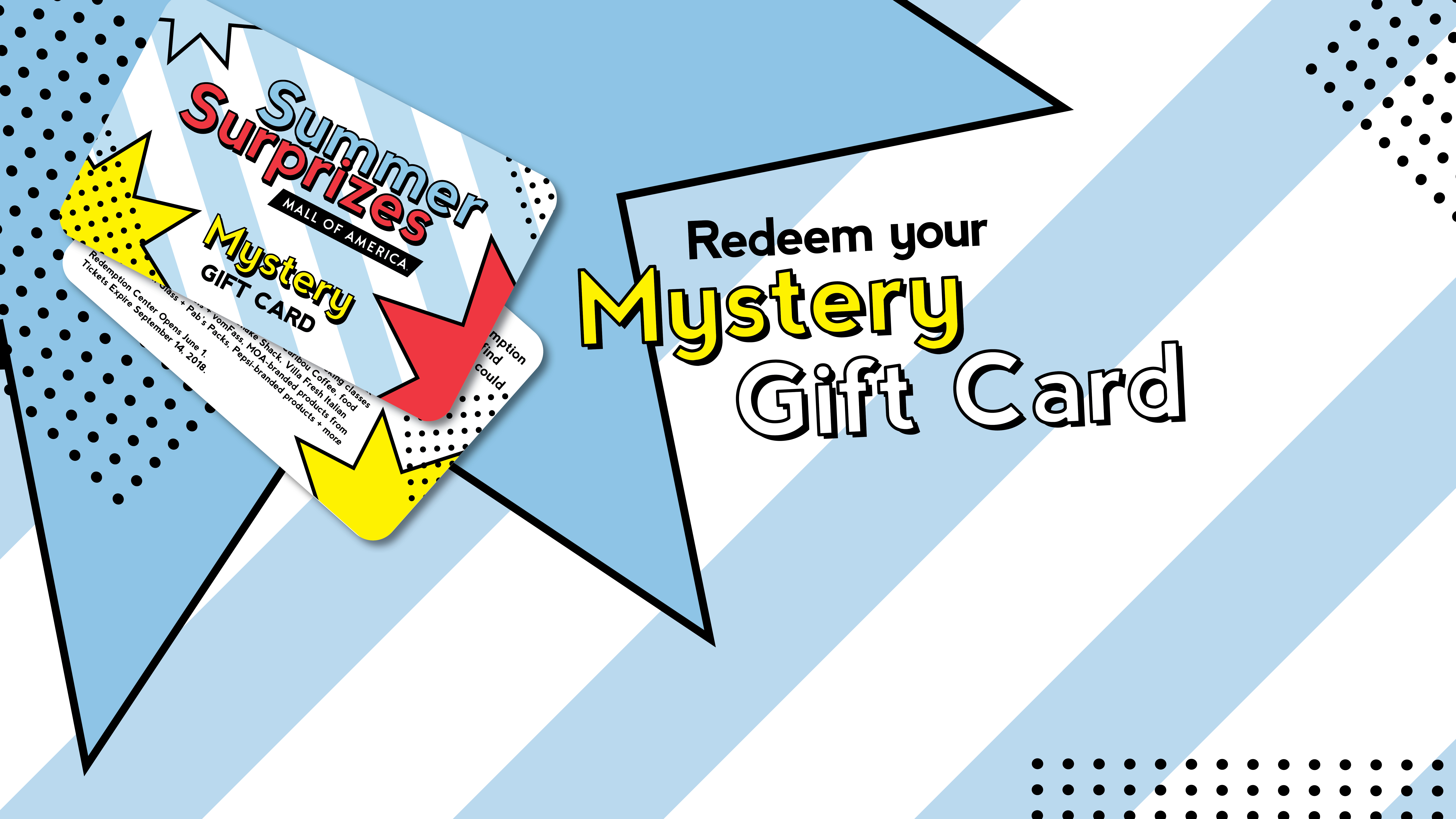 Mystery Gift Card Summer Surprizes Mall Of America