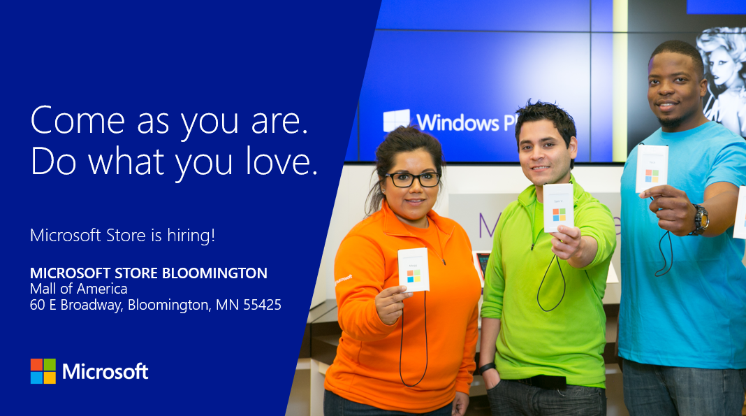 microsoft hiring event mall of america