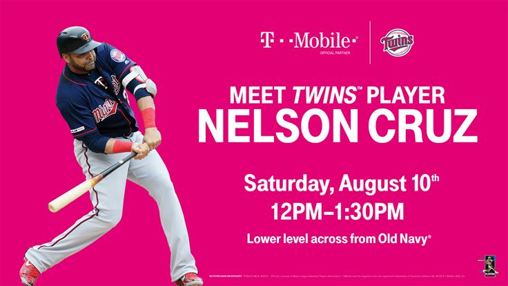 MN Twins Player Appearance: Nelson Cruz | Mall of America