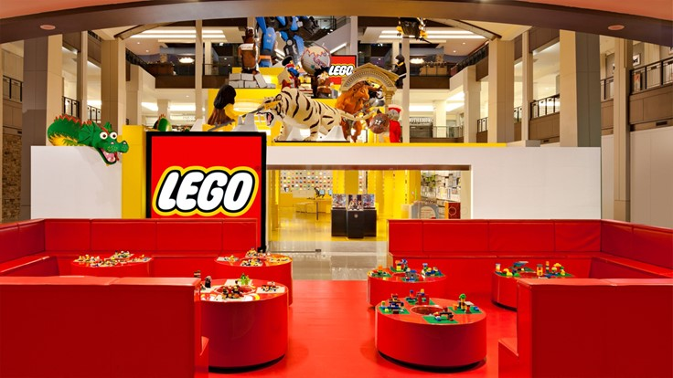 The Lego Store Mall Of America
